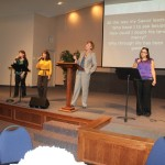 North point Church's women lead us in a few a' cappella songs  2/2013
