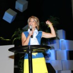 Julie welcomes guests to Revive 2012