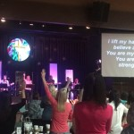 Worship before hearing from Christine Caine  5/2015